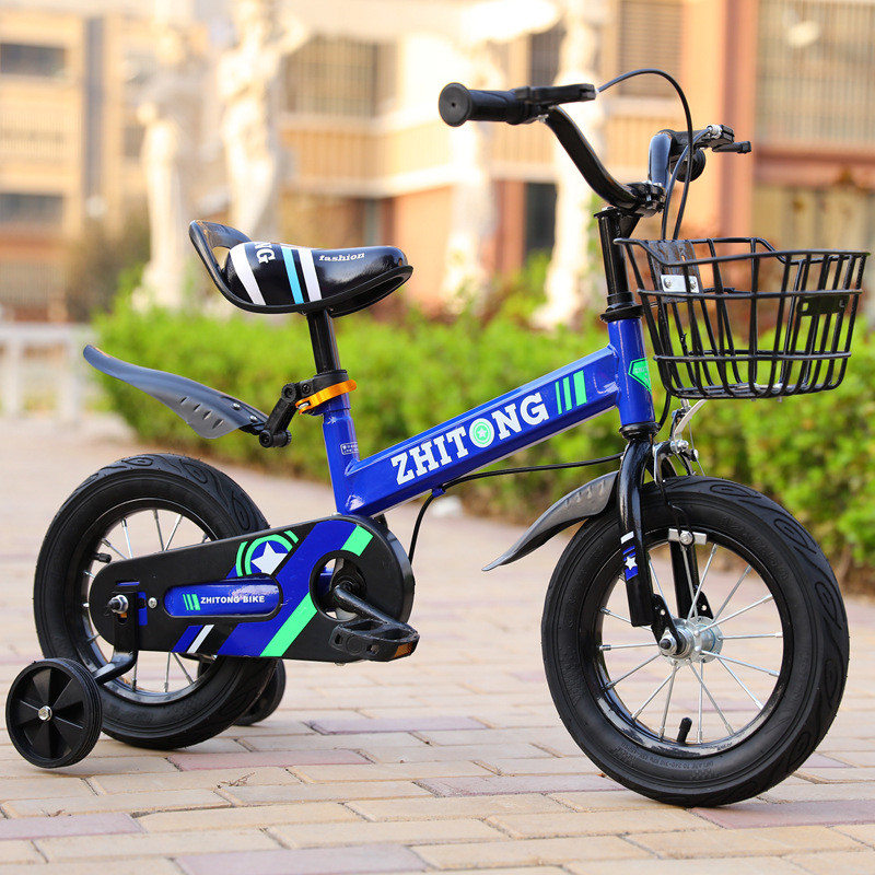 HTB10DqFS9zqK1RjSZFpq6ykSXXaS 2019 hot sell Wisdom children bicycle boy 12/14/16 inch 2-9 years old baby bicycle stroller men and women children single
