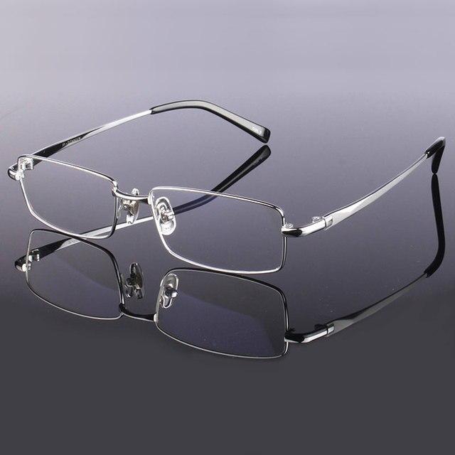 Hotony Mode Mannen Titanium Legering Brilmontuur Optische Brillen Recept Brillen Volledige Velg Frame Bril Vision Frame