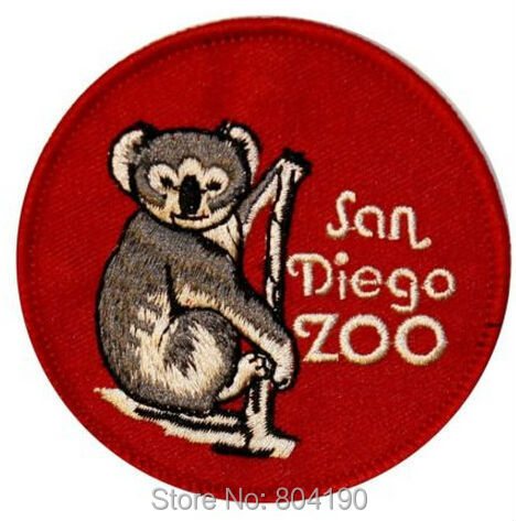 3 San Diego Zoo Travel Souvenir Costume Uniform Embroidered Emblem