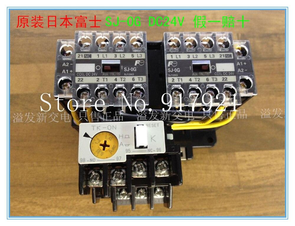 [ZOB] l'original Japonais Fuji Fe SJ-0G chaîne TK-0N 0.95-1.45A contacteur avec relais de surcharge thermique