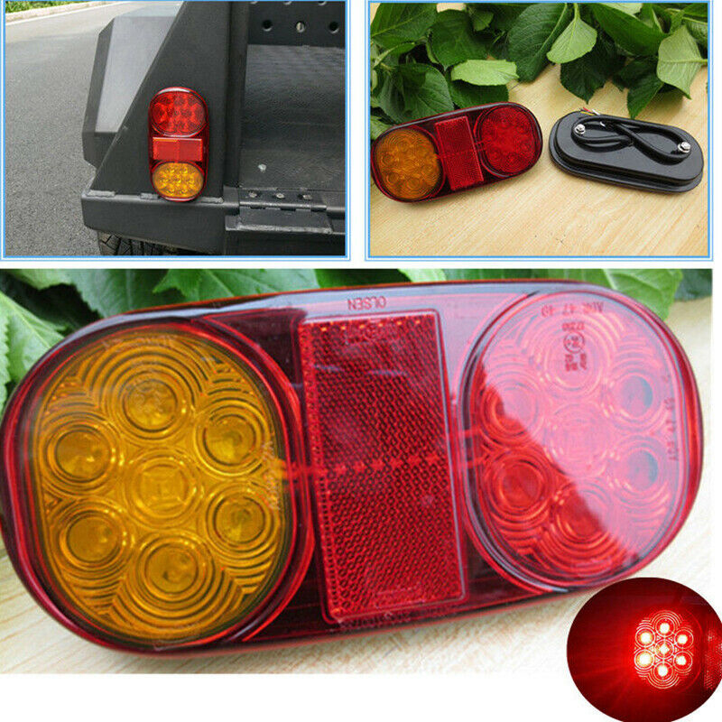 Image 5 - Yellow+Red LED Tail Lights Stop ABS Waterproof Indicator Car Boat Trailer Bulbs Accessories DC 10 30V-in Truck Light System from Automobiles & Motorcycles
