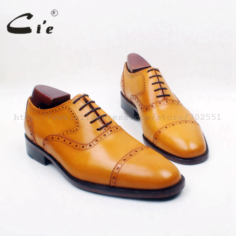 cie Round Cap Toe Lace-Up Oxford  Brown 100%Genuine Calf Leather Upper/Insole/Outsole Breathable Mens Brown Leather Shoe OX683 купить часы haas lt cie mfh211 zsa