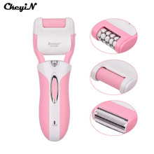 3 in1 Feet Care Pedicure Kit Rechargeable Skin Callus Remover Electric Women Epilator Hair Removal Peeling Foot Massage 220-240V