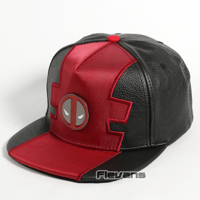 c87c83d5 Marvel Comics Deadpool Snapback Caps Cool Fashion Hip Hop Hat Adult High  Quality Leather Baseball Cap For Men
