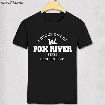 Prison Break Miller Mahone 100% cotton homme T-shirt I broke out of fox river Geek T shirt man t shirt