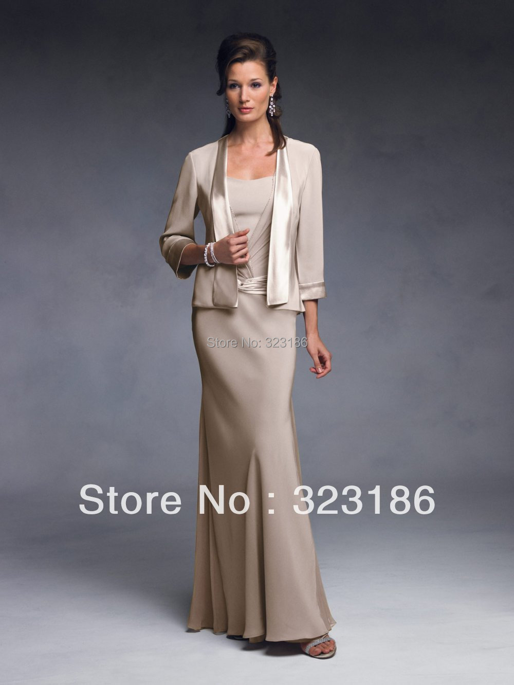Long Jacket Simple Style Evening Dress Hot Sexy Evening Dress Gowns Party Dresses Best for Women