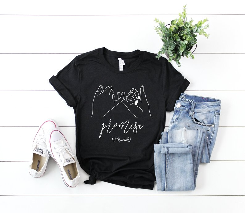Skuggnas New Arrival Promise Shirt Promise T-Shirt Promise Jimin Park Jimin Tee Short Sleeve Fashion T Shirts Drop Shipping