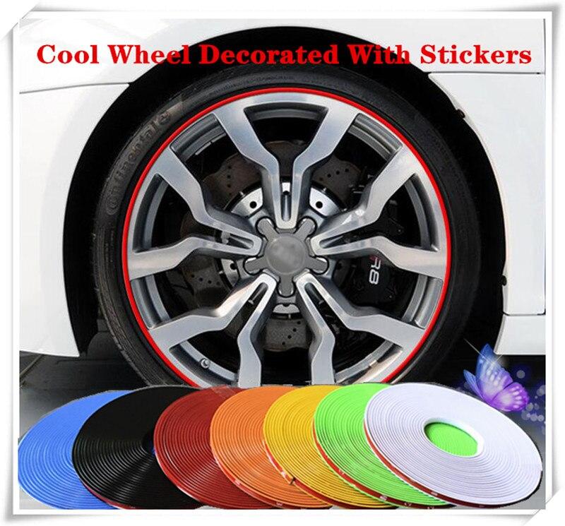 8M Car Wheel Hub TRIM Mouldings Stripe For SEAT Ibiza Leon Toledo Exeo FR Altea Cordoba cupra concept sticker Accessories