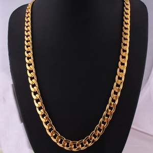 GENBOLI Punk Gold Men Necklaces Metal Long Chain Jewelry