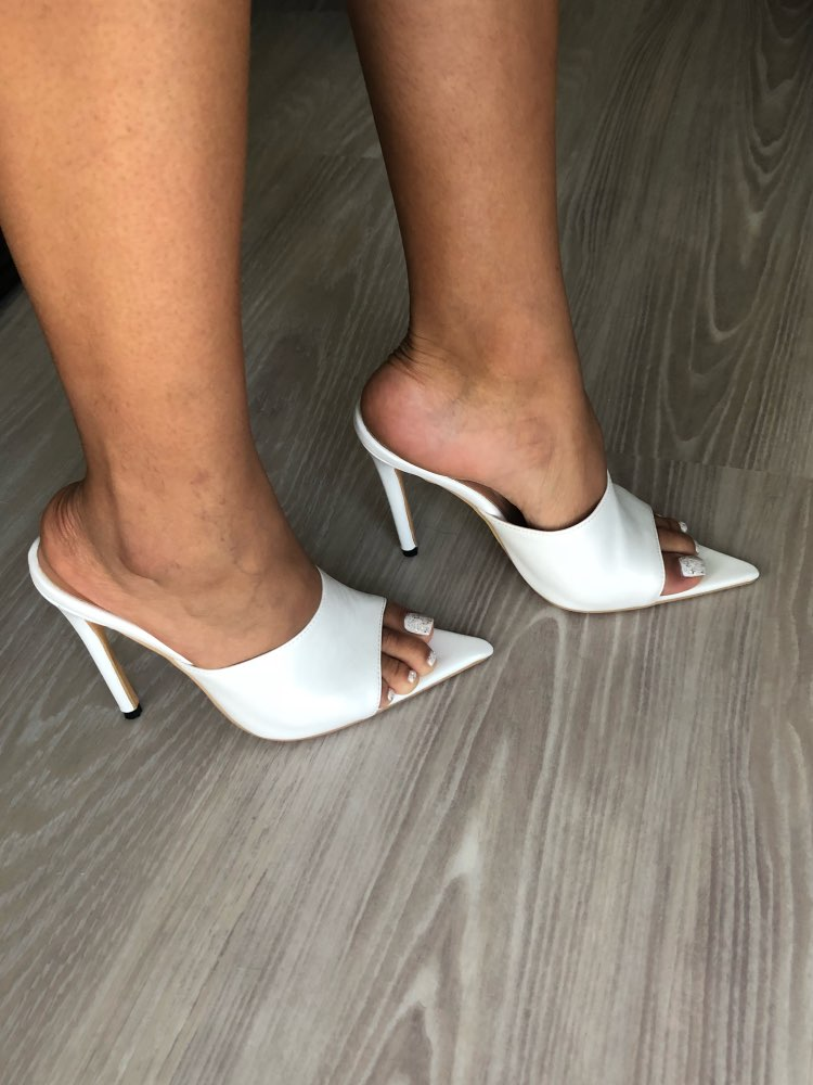 Pointy Toe Sandals Mules Black Dress
