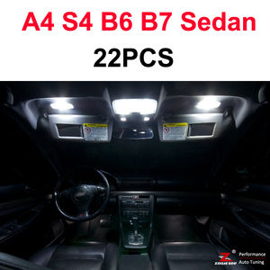 Image 5 - Perfect White Canbus Error Free LED bulb interior dome map overhead light Kit for Audi A4 S4 RS4 B5 B6 B7 B8 ( 1996   2015 )
