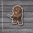 Star Wars Character IV Chewbacca PVC Laptop Notebook Skin Sticker Car Styling Home decor jdm kid Toy Suitcase Stickers[single]