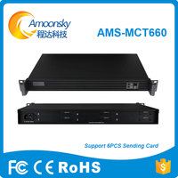 AMS MCT660 Six Sender Card Box Support Install 6 Sending Card Like Card Linsn Ts802d Nova