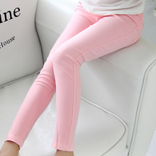 kids 2016 Spring and summer children's clothing skinny full length candy colored pencil wholesale girls leggings girl pants