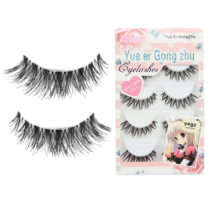 Natural 1/5Pair Luxury 3D False Lashe Thick Long Eye Lashes Wispy Makeup Beauty Extension Tools