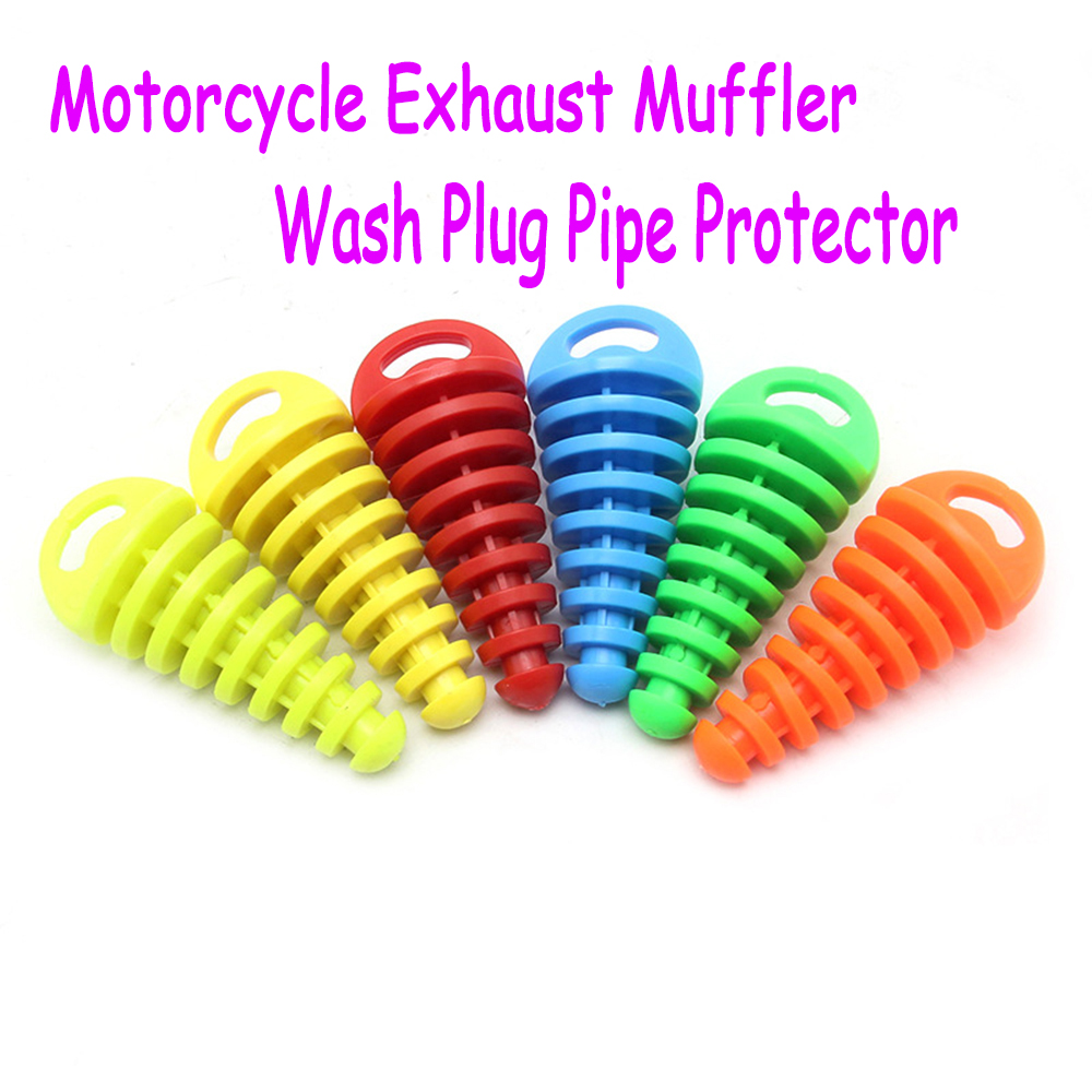 Motorcycle Exhaust Pipe Motocross Tailpipe Air-bleeder Plug Exhaust Silencer Muffler Wash Plug Pipe Protector 15-38MM(China)