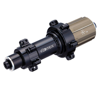 Super Light 204g Bitex BX305R straight pull road bike hubs rear 24 holes with Ti quick releases skewers black