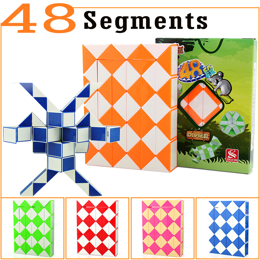 Puzzles & Games Obliging 48 Segments Snake Magic Cubes Toy For Kids Boys Xinlexin Puzzle Cube Cubos Megico Drop Shipping