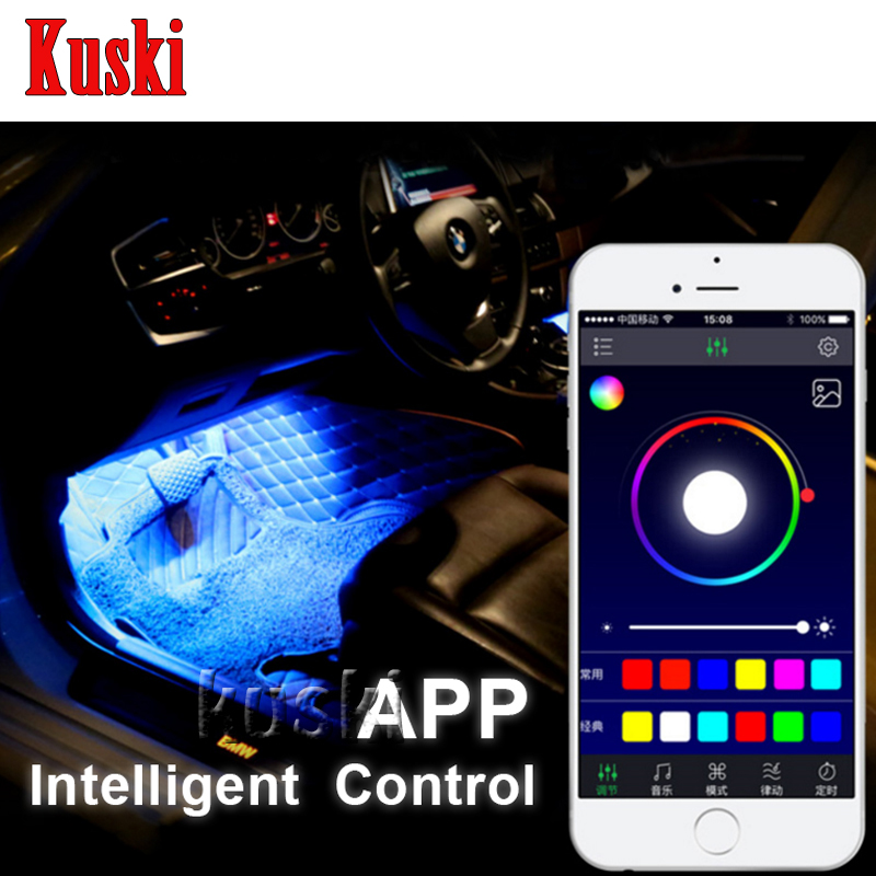 Car Atmosphere Lamp For APP Control For Mercedes W211 W203 W204 W210 W205 W212 W220 AMG For Cadillac CTS SRX ATS  Accessories
