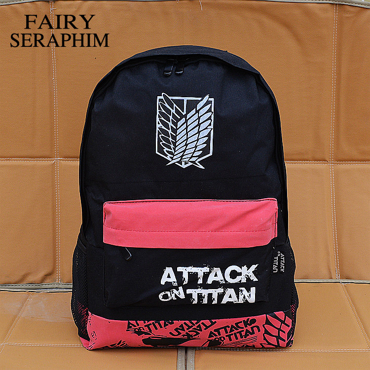 FAIRY SERAPHIM Attack on Titan backpack printing design cartoon teenager children school bag anime Backpack attack on titan freedom wings emblem printing korean japanese style school backpack anime backpacks ab197
