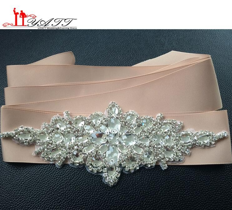 New-Promotion-Crystals-Robbin-Sash-for-Bride-Artificial-Wedding-Belt-for-Weddings-Real-Images (3)