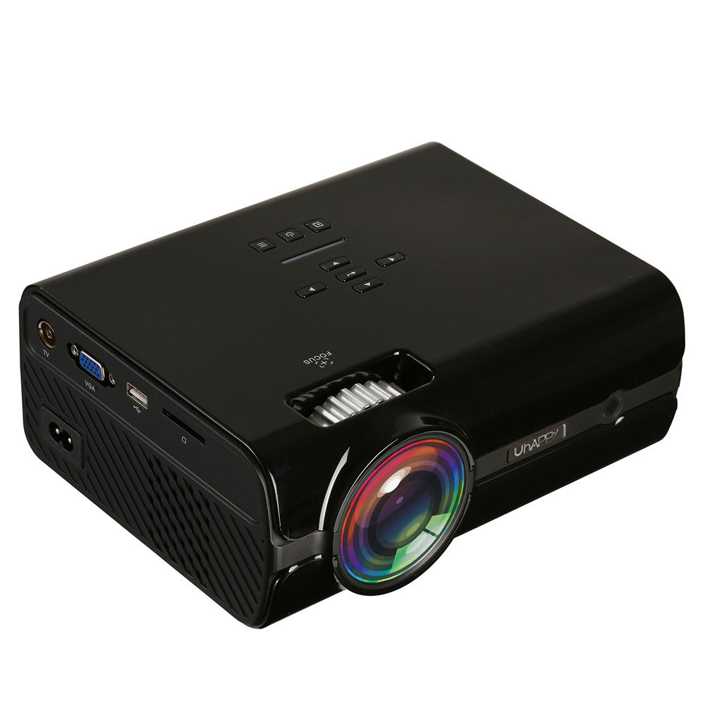 EStgoSZ 2300 Lumen 2018 U45 Led Projector Uhappy Best Portable HD USB HDMI TV Projector LCD Mini Proyector 3D Home TheaterBeamer festina часы festina 6754 a коллекция automatic
