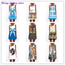 Monya 2016 new summer Chiffon printed o-neck Sleeveless women's shirt Clothes For Pregnant Women Blouses for Maternity Dress