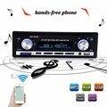 Автомобильные стереосистемы Новый 12 В BLUETOOTH 1-Din Стерео Радио MP3 USB/SD AUX Аудио Плеер Автомобиля в Тире 60Wx4 для телефона