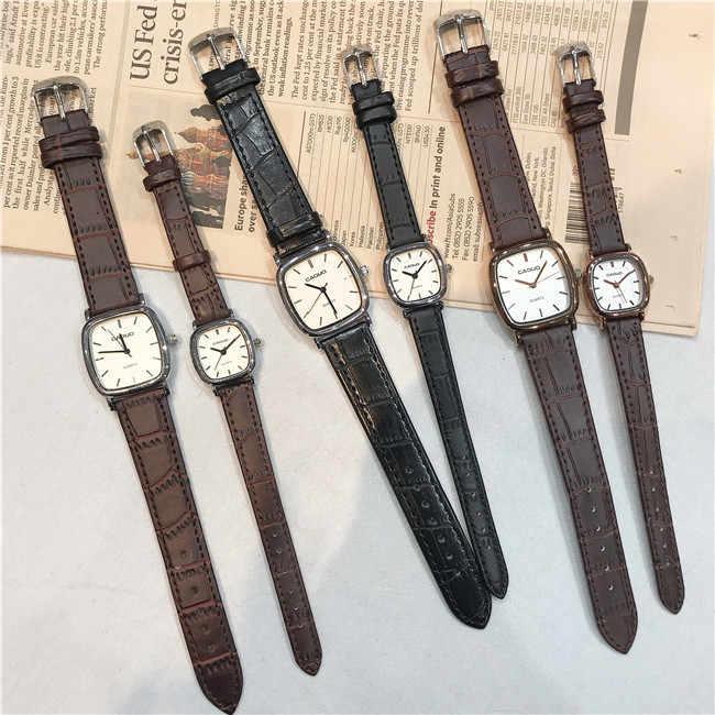 Минималистичные классические квадратные мужские и женские платья мужские кварцевые часы женские деловые наручные часы для влюбленных OL часы в простом стиле