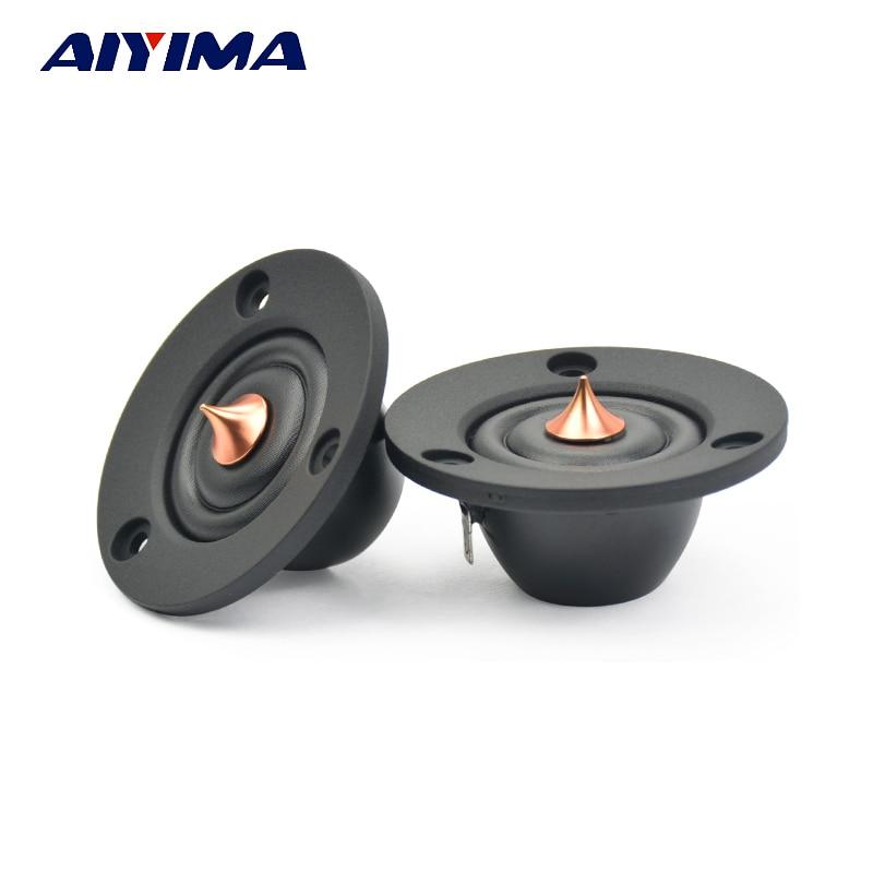 AIYIMA 2pcs 2inch 6 Ohm 30W Silk treble film Tweeter Speaker Unit Car Speaker Professional Hifi horn loudSpeaker