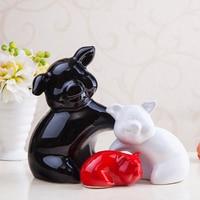 Ceramic pig ornaments creative wedding gift living room wine cabinet decor crafts home decoration furnishings auspicious 3 pigs