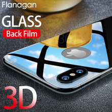 Flanagan Ultra-thin Mobile Phone Tempered Glass Back Sheet For iPhone 8 7 Plus