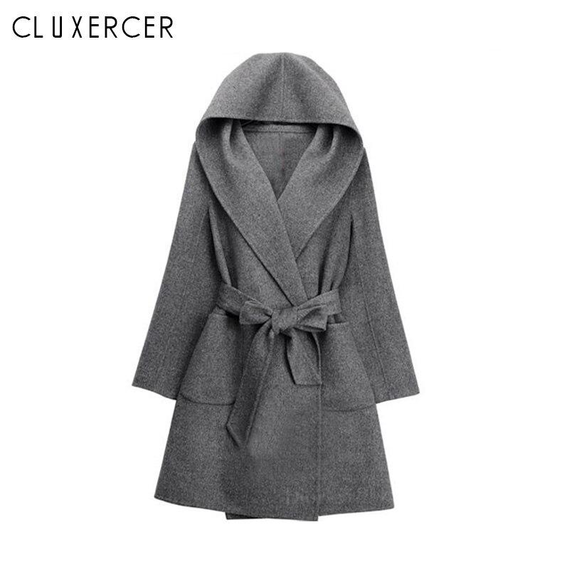 2018 Fashion Women/'s Casual Medium Slim Coat Korean Cotton Blend Overcoat Jacket