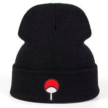 Аниме для любителей шапочки семья Uchiha логотип хлопок вышивка Акацуки зимняя шапка вязанные шапочки Skullies шапочки шапка хип-хоп вязаная шапка