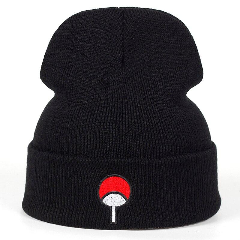 bonnet-amoureux-de-l'anime-uchiha-logo-famille-coton-broderie-akatsuki-chapeau-d'hiver-bonnet-tricote-skullies-bonnets-chapeau-casquette-en-tricot-hip-hop