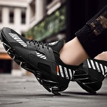 Stripe Letter Trend Shoes Male Running Casual Streetwear Man Sneaker Mesh Light Breathable Black Lace Up Summer White Men Shoes