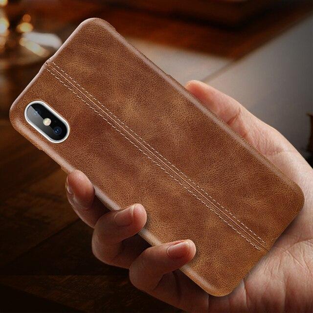Chính Hãng Cho iPhone 7 8 6 6S Plus Slim Toàn Thân Chống Trơn Chống Trầy Xước bao Da Trường Hợp Cho iPhone XS Max X XR
