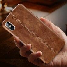 אמיתי עור מקרה עבור iPhone 7 8 6 6S בתוספת Slim מלא גוף החלקה גריפ שריטה עמיד כיסוי מקרים עבור iPhone Xs מקסימום X Xr