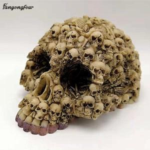 Image 2 - Silicone Mold Lots Horror Skull Halloween Cake Decorating Tools DIY Skull Candle Chocolate Gypsum Silicone Mold