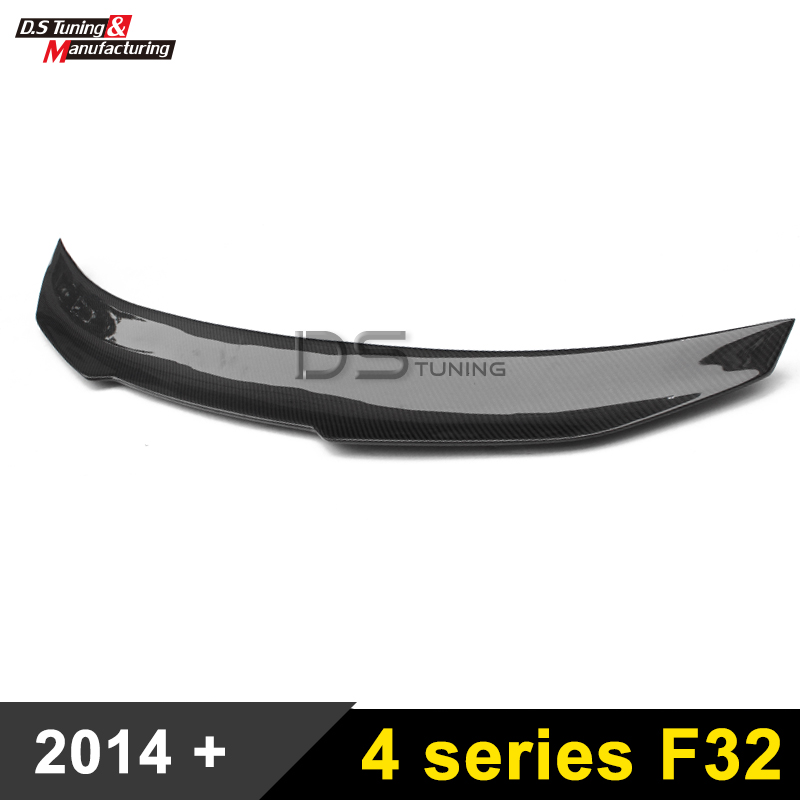 F32 Carbon Fiber Rear Spoiler Wing PSM Style Trunk Boot Lip For BMW F32 4 Series 2-door Coupe 2014 - present carbon fiber auto front lip splitter flags for bmw 4 series f32 f33 435i m sport coupe & convertible 2 door 2014 2016 page 1