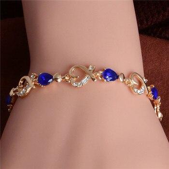 Women's Fashion Colorful Bracelets Bracelets Jewelry New Arrivals Women Jewelry Metal Color: H091