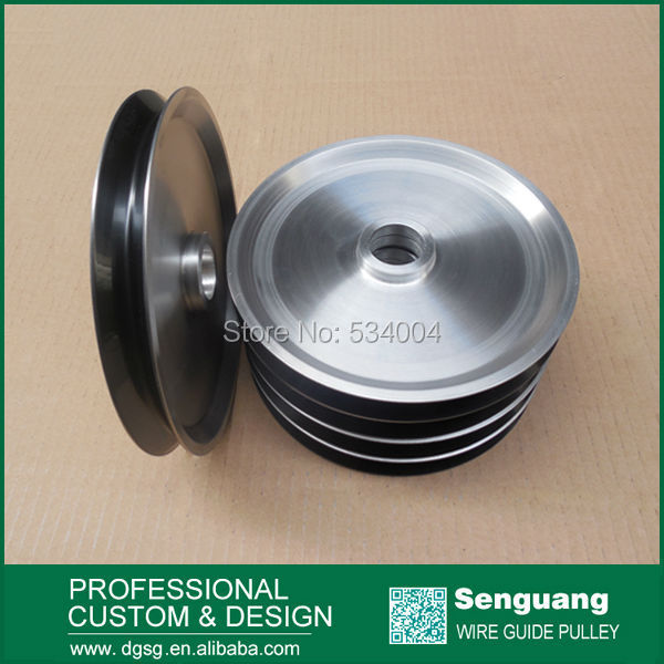 wire drawing polished finish pulley with ceramic coating coating ceramic pulley for wire drawing machine