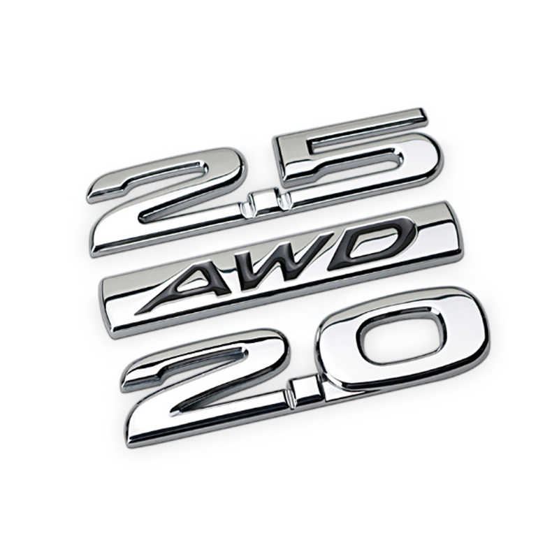 1Pcs 3D Metalen AWD Auto Side Fender Kofferbak Embleem Badge Sticker Decals pak voor Universele auto, auto decoratie stickers