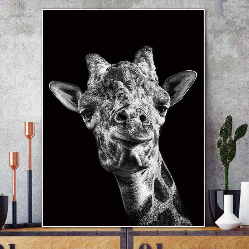 Art Canvas Painting Pictures abstract painting art  print  animal on canvas Wall poster painting home decoration for living room
