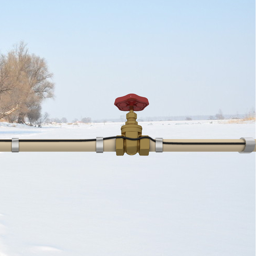 25w/m Pre Assembled Heating Cable Pipe Heating Cable Snow Melting Heating  Cable Roof And Gutter De Icing