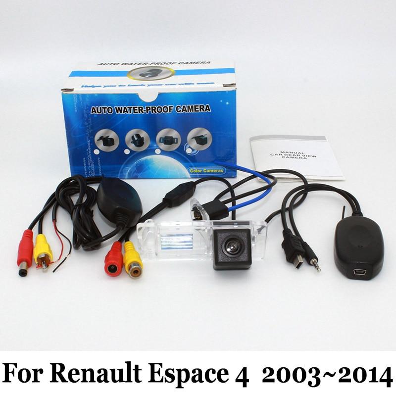 Drátová nebo bezdrátová zadní kamera pro fotoaparát Renault Espace 4 2003 ~ 2014 / RCA CCD Noční vidění / širokoúhlý objektiv Úhlová kamera