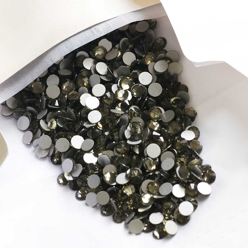 ... SS20 Crystals Black Diamond Decorations Non Hotfix Crystals Nail Stones  Painting DIY Clothes Glass Stones ... ae3060d62bde