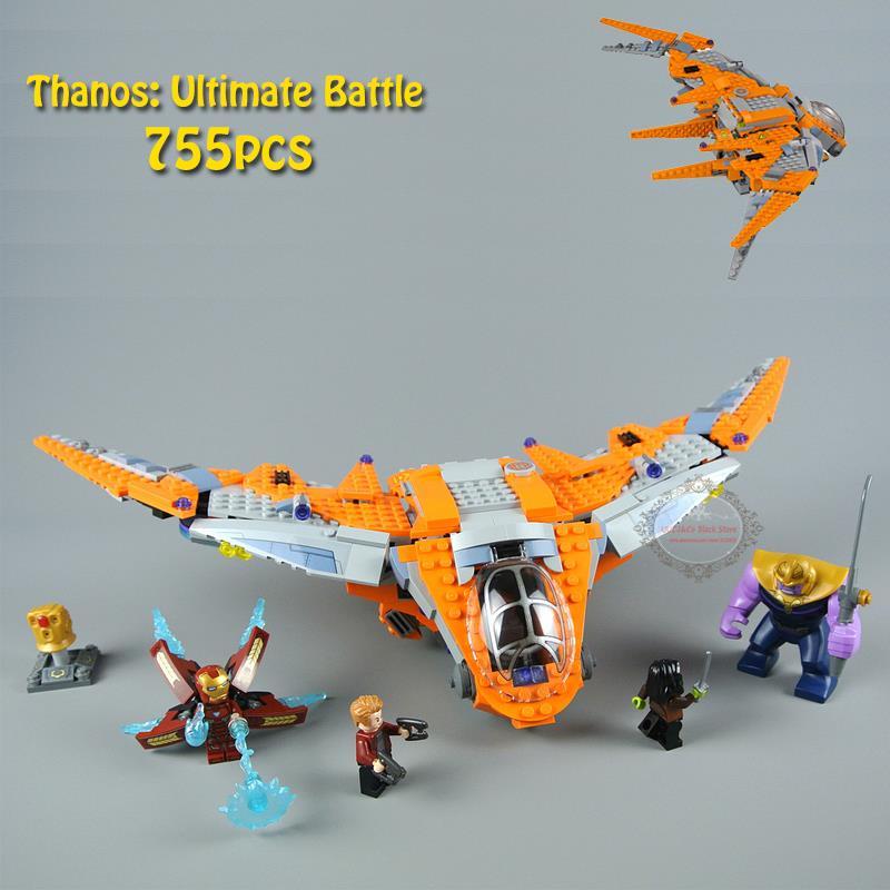 76107 Marvel Super Heroes Avengers Infinity Guerra Thanos Ultima Battaglia Modello di Set di Blocchi di Costruzione Giocattoli Per I Bambini 07103