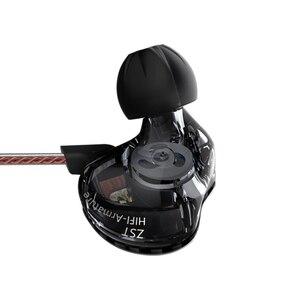 Image 4 - KZ ZST DD + BA 중저음 헤드셋 HiFi 이어폰 4 코어 컨트롤 음악 Movemen 이어폰 교체 가능 Bluetooth 케이블 ZSN AS10 ES4
