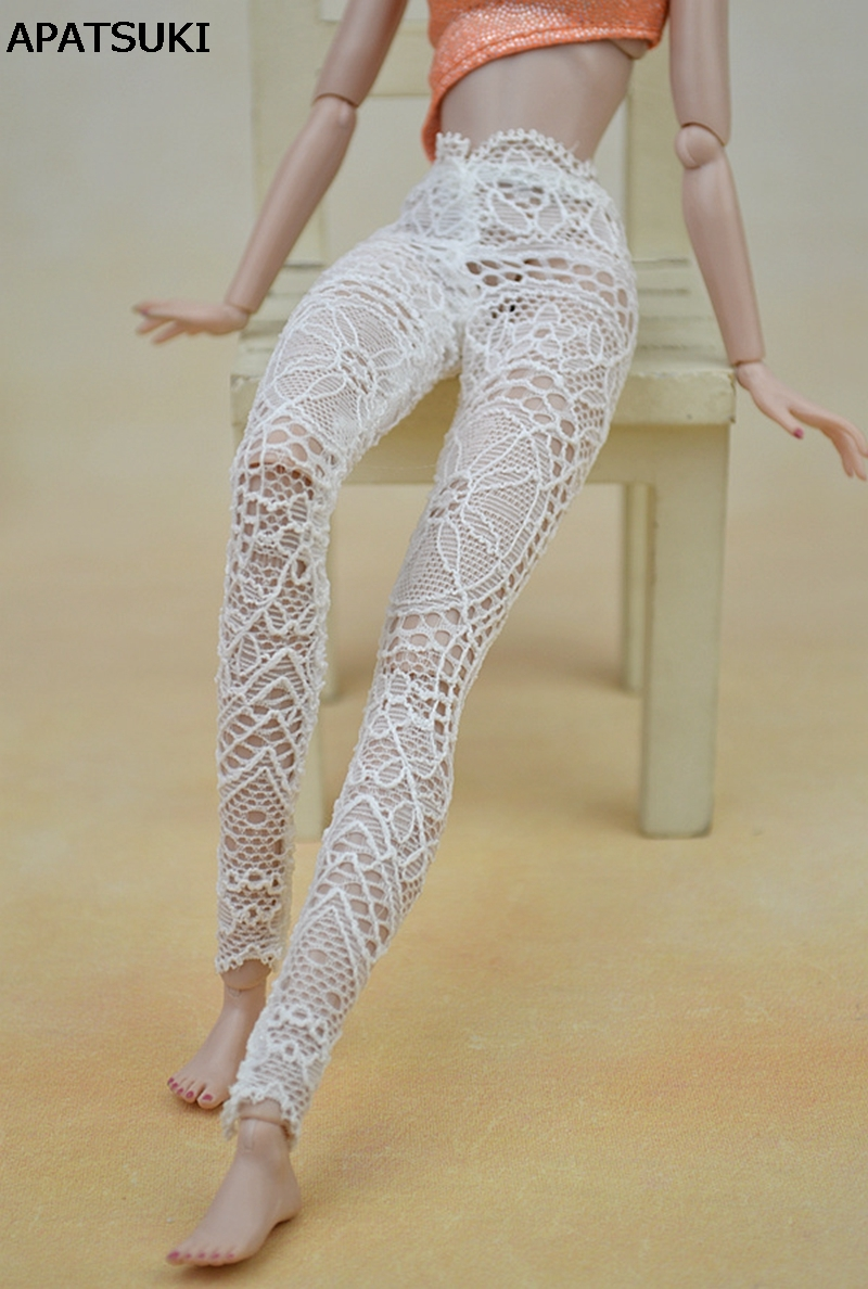 High Quality Handmade Lace Bottoms Pants Trousers For Barbie Doll Clothes Fesyen Pakaian Untuk 1/6 Dolls
